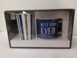 Ceramic Best Dad Ever cup and mug set for Sale in Tupelo, MS