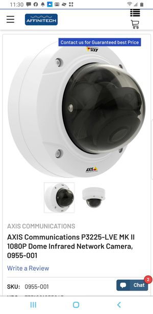 New Network Camera AXIS P3225-LVE MKII for Sale in Manassas Park, VA