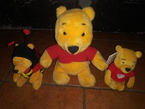 Original collectible talking Winnie the Pooh + 2 more plush toys for Sale in Hawthorne, CA