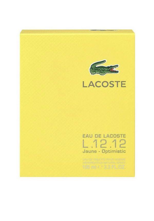 Lacoste Eau De Lacoste L.12.12 Jaune For Men Optimistic Edt Spray 3.3 Oz By Lacoste
