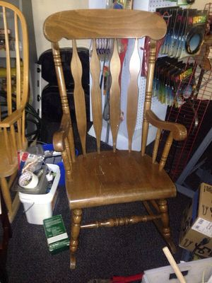 Rocking chair dark wood for Sale in Caledonia, MI