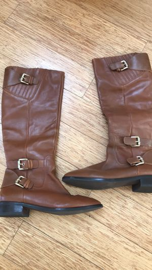 Michael Kors leather riding boots sz 7.5 EUC for Sale in Charlotte, NC