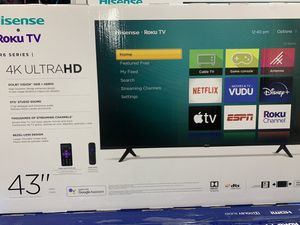 "BRAND NEW 43"" HISENSE ROKU 4K SMART TV for Sale in Anaheim, CA"