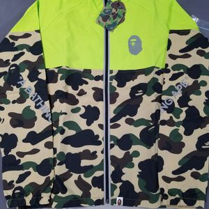BAPE 1st Camo Yellow Windbreaker Jacket for Sale in Chicago, IL