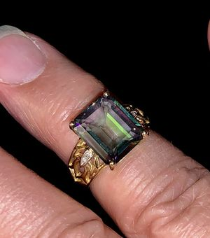 MYSTIC FIRE TOPAZ RING for Sale in Puyallup, WA