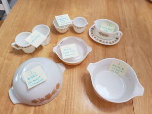 Vintage Pyrex Butterfly Gold 15 Piece Set for Sale in Cape Coral, FL
