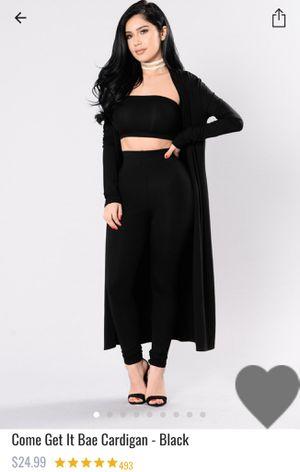 Fashion nova Berlin bandage dress & come get it bae cardigan black for Sale in North Las Vegas, NV