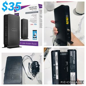 NETGEAR C3000-100NAS N300 (8x4) WiFi Cable Modem Router (C3000) Certified for Comcast, Spectrum And More for Sale in Plano, TX