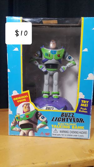 Buzz Lightyear Electronic Talking Bank for Sale in Montebello, CA