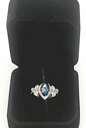 NATURAL BLUE TOPAZ CERTIFIED 1 CARAT LADIES RING for Sale in Fairfax, VA