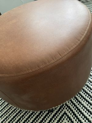 Leather ottoman for Sale in Salt Lake City, UT