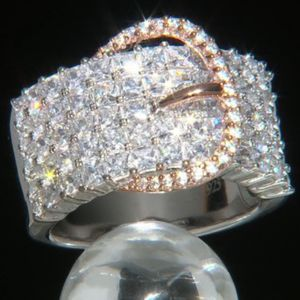 Rose Gold Over Sterling Silver Cubic Zirconia Belt Buckle Ring 5.16ctw for Sale in Phoenix, AZ