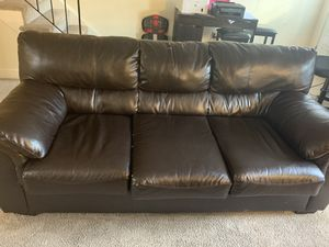Leather sofa for Sale in North Attleborough, MA