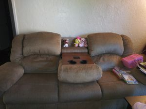 2 Sofas Recliners with massage Mode!!! Great price!! for Sale in Baldwin Park, CA