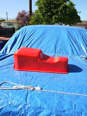 Chevy nova 327/350 engine front sump oil pan and misc. Parts for Sale in Rialto, CA
