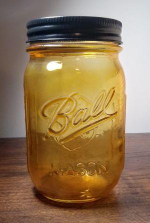Decorative 12 Oz Mason Jar Brass Powder Coat Finish for Sale in Montezuma, OH