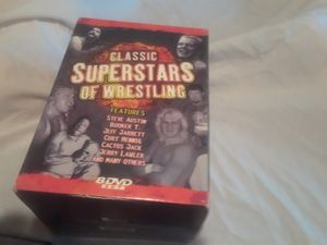 Set of 8 wrestling DVDS for Sale in Hamilton, MS