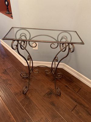 Z Gallery Glass & Metal Scrolled Entry Table & Mirror for Sale in San Diego, CA
