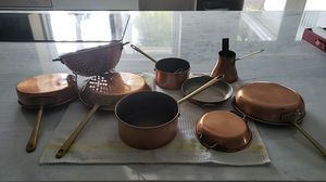 9 Piece Paul Revere Copper Pots & Pans Set for Sale in North Miami, FL