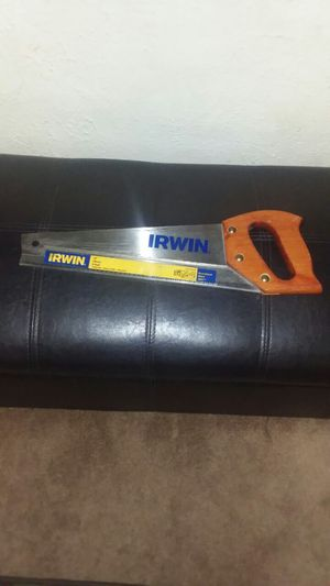 """VERY GENTLY USED, IRWIN COARSE CUT 15""""HAND SAW, ASKING $10 for Sale in Fort Wayne, IN"""