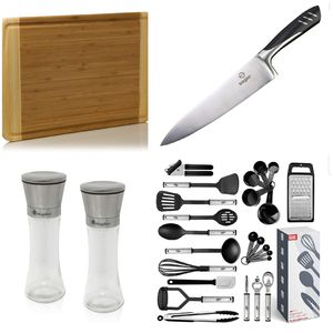 Kitchen Bundle: knife, cutting boards, cooking utensils, salt and pepper grinder set for Sale in San Diego, CA