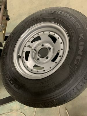 Set of 4 trailer rims and 215/75R14 tires. for Sale in Frankfort, IL