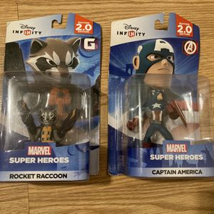 Disney Infinity 2.0 Marvel Super Heroes/ Rocket Raccoon/ Captain America/ Power Disc Pack for Sale in San Diego, CA