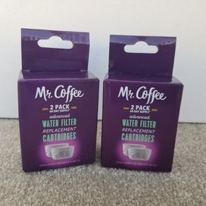 New Mr. Coffee Advanced Water Filter Replacement Cartridges Lot Of 2 - 120 Day Supply for Sale in Lufkin, TX