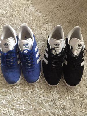 Men's Adidas Gazelle (Black & Blue) $100 for both for Sale in Silver Spring, MD
