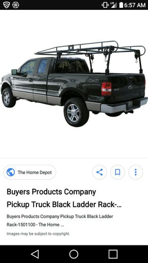 Ladder rack 6.5 foot 200$ firm. No lowballers...this is priced to sell...pick up is at flash automotive newberg hts oh for Sale in Brunswick, OH