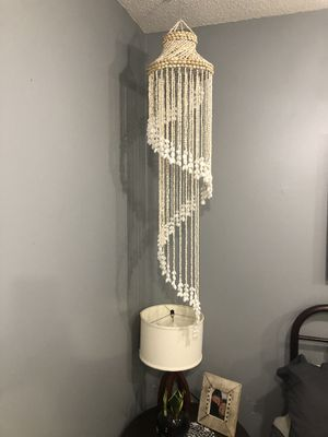 Vintage boho shell chandelier for Sale in Waxhaw, NC