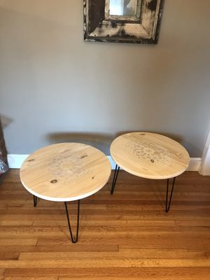 New Hairpin and Wood Tables / Nightstands / End Tables for Sale in San Diego, CA