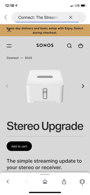 Sonos receiver stereo upgrade for Sale in Brooklyn, NY