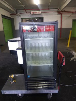 Coca-Cola glass door refrigerator 53 in high for Sale in North Bergen, NJ