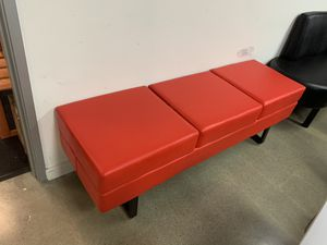 Barberpub Waiting Room Reception Chair Bench Business Office Medial Spa Salon Beauty Equipment 7002 Red for Sale in Commerce, CA