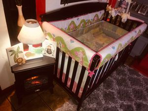 New Jungle Animal Complete Baby Crib Set for Sale in Fresno, CA