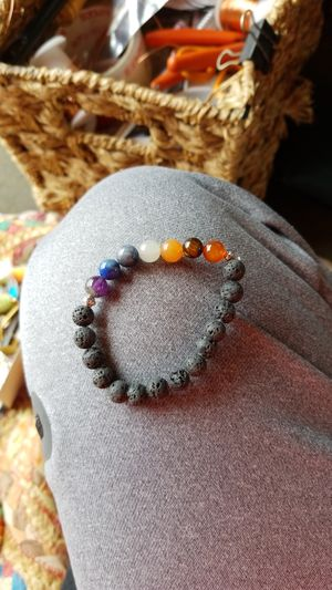 Chakra Lava Rock Bracelet. 8mm for Sale in Santa Monica, CA