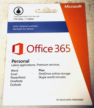 Microsoft Office 365 (1 Year Subscription) for Sale in Seattle, WA