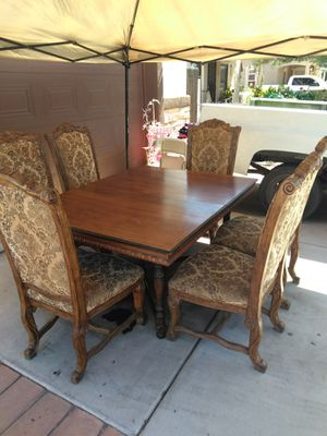 Six chairs and table for Sale in Phoenix, AZ