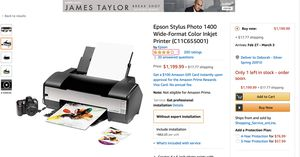 Epson 1400 Photo Printer for Sale in Silver Spring, MD