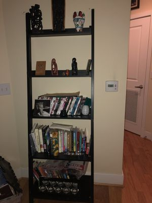 Wood 5-Shelf Ladder Bookcase for Sale in Arlington, VA