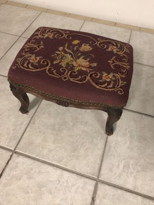 Gobelin foot stool antique for Sale in Gulfport, MS