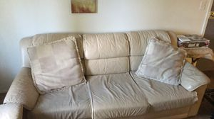 2 off-white leather couches for Sale in Clinton Township, MI