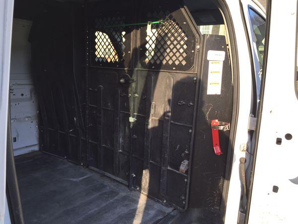 2013 Ford E250 Cargo Van Work Shelves and Ladder Rack