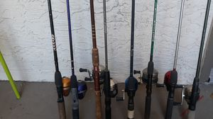 Fishing poles and reels for Sale in Gilbert, AZ