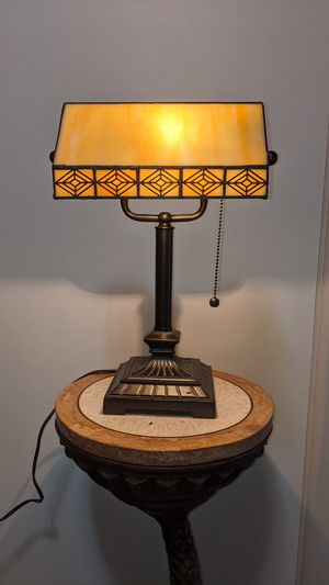 Desk lamp with pivoting leaded glass shade for Sale in Kenneth City, FL