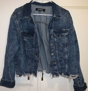 Express size Large denim jacket for Sale in Anaheim, CA