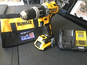 "DeWALT Brand New 20V 1/2"" XP Brushless Hammer Drill+2Ah Battery +Charger & Tool Bag for Sale in Spring Valley, CA"