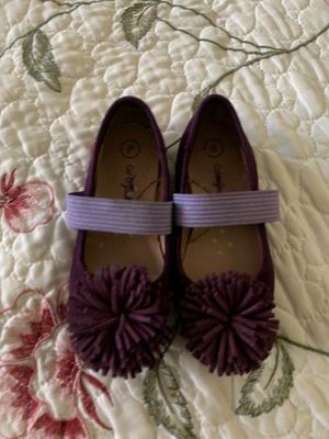 Suede purple flats size 8 for toddlers for Sale in West Covina, CA