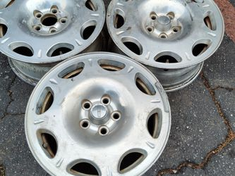 Three Lincoln continental 16 inch wheels. 5 on 108mm $60 each for Sale in Pico Rivera,  CA